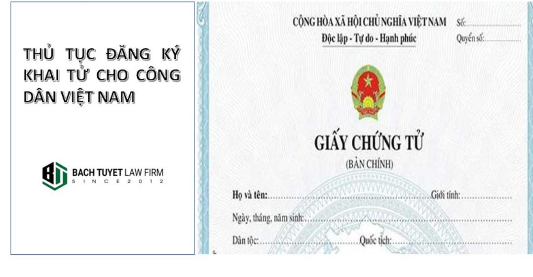 Hướng dẫn thủ tục đăng ký khai tử cho công dân việt nam.